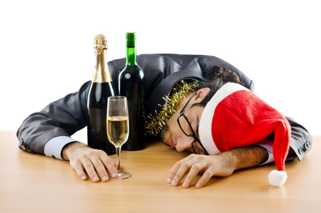 10970163 - drunken businessman after office christmas party